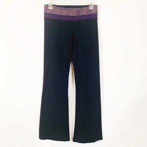 Lululemon Black & Purple Leggings Size 6